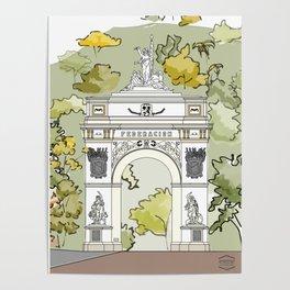 Parque El Calvario -Arco de la Federación- Poster