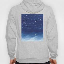 night sky, ocean painting Hoody