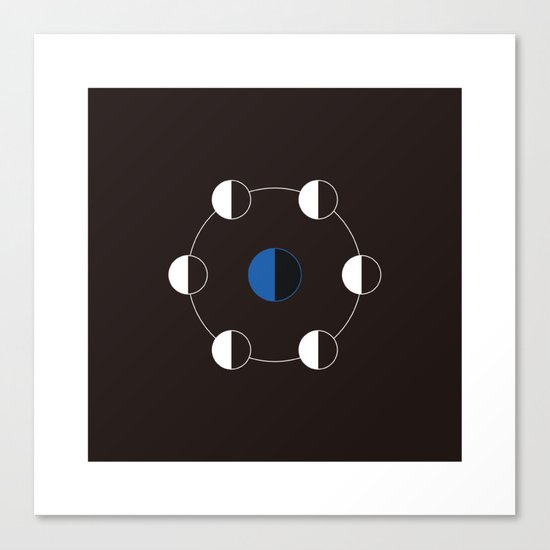 #163 The journey of the moon – Geometry Daily Canvas Print