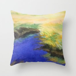 Saltwater Marsh Throw Pillow