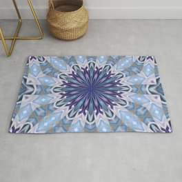 Winter abstract pattern Rug