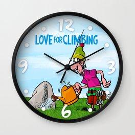Love for Climbing Wall Clock