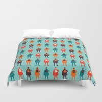 heroes Duvet Covers featuring Heroes by Tomas Hudolin