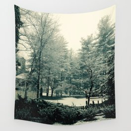 The Trees - Snowy & Green Wall Tapestry