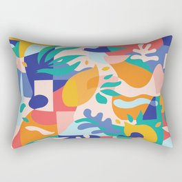 Amalfi Abstraction Pattern / Colourful Modern Shapes Rectangular Pillow