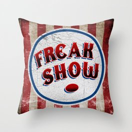 """FREAK SHOW"" Bullet Throw Pillow"