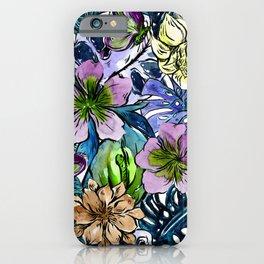 Tropical Blue Flower Hibiscus Garden iPhone Case