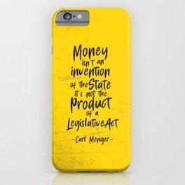 Carl Menger Illustration iPhone Case