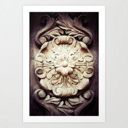 Wood Flower Art Print