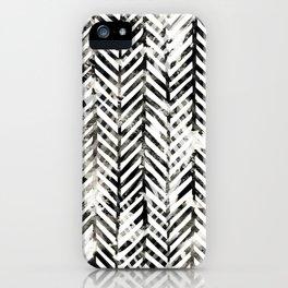 Black and White Herringbone iPhone Case