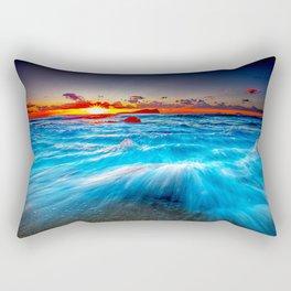 Blazing Rift Rectangular Pillow