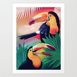 The Too Too Cans Art Print