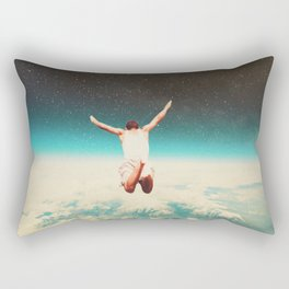 Falling with a hidden smile Rectangular Pillow