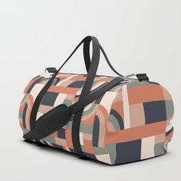 Earth Tones Blocks #society6 #pattern Duffle Bag