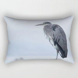 Observer - Heron in the Harbour - Seascape #decor #society6 #buyart Rectangular Pillow