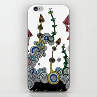 mushroom iPhone & iPod Skins featuring mushroom by Sèиga
