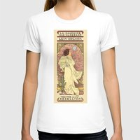 prague T-shirts featuring La Dauphine Aux Alderaan by Karen Hallion Illustrations