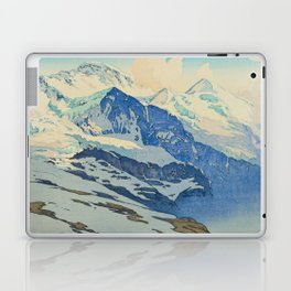 The Jungfrau Vintage Beautiful Japanese Woodblock Print Hiroshi Yoshida Laptop & iPad Skin