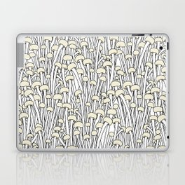 Enokitake Mushrooms (pattern) Laptop & iPad Skin