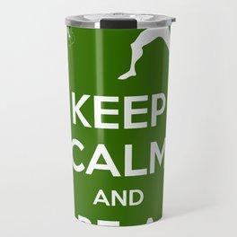 Keep Calm and Be a Superhero Travel Mug