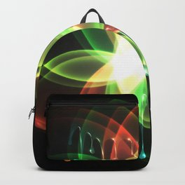 Colorful and shiny flower artwork with paint Backpack
