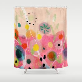 floral power abstract Shower Curtain