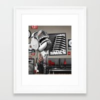 mike wrobel Framed Art Prints featuring Mike by MADDSGN