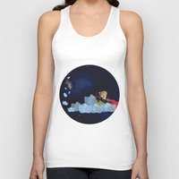 swimming Tank Tops featuring swimming by HanadaCreations