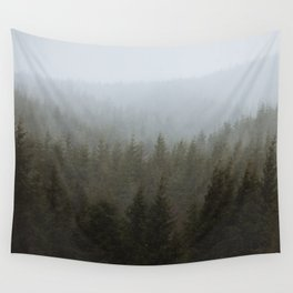 Snowy Forks Forest Wall Tapestry