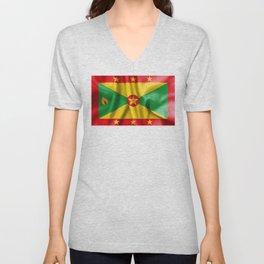 Grenada Flag Unisex V-Neck