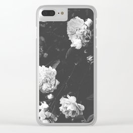 Spring Roses in Bloom Black and White Photography Clear iPhone Case