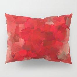 red modern pattern Pillow Sham
