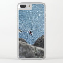 Kayaking through lighthouse park Clear iPhone Case
