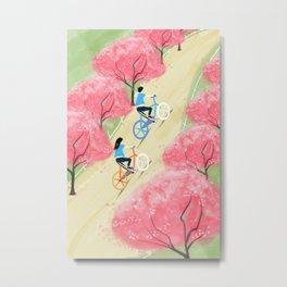Ride Bike Students Metal Print