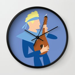 Apollo the music boy and the bird Wall Clock