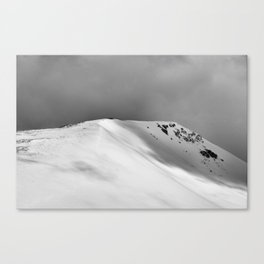 Snow Covered Mountain Slope Canvas Print