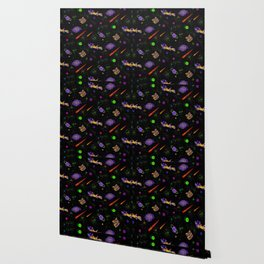 Technicolor Spaceship Wallpaper