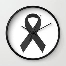 Black Awareness Support Ribbon Wall Clock
