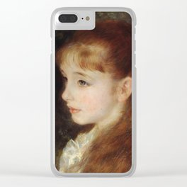 Portrait of Mademoiselle Irène Cahen d'Anvers (Little Irene) Clear iPhone Case