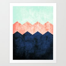 triple chevron (2) Art Print