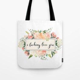love you floral Tote Bag