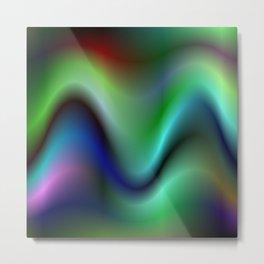 Electric waves Metal Print