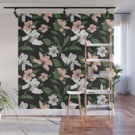 Flowers in the tropical night Wall Mural