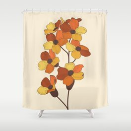 70's Flowers Shower Curtain