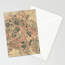 Vintage Map of Lugo Spain (1915) Stationery Cards