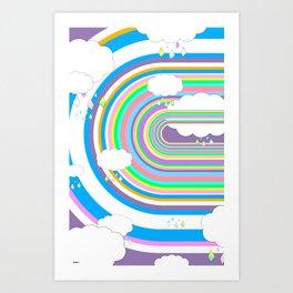 Happy Rain Art Print