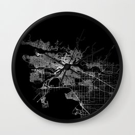 vancouver map canada Wall Clock