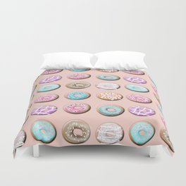 Donuts, pink Duvet Cover