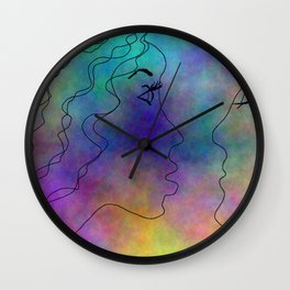 Please Kiss Me Wall Clock
