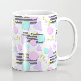 Pastel Retro 80s/90s Geometric Pattern Coffee Mug